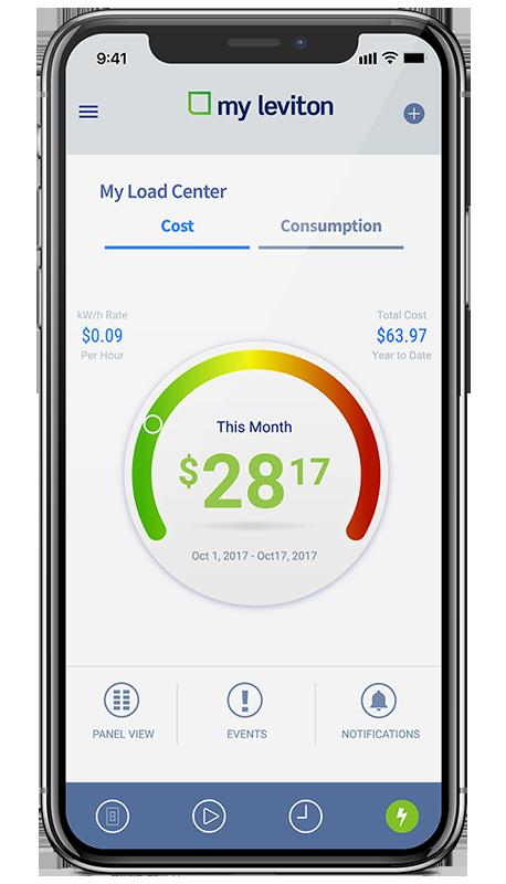 Leviton App Energy Use